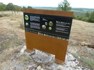 Panneau gestion des pelouses calcaires
