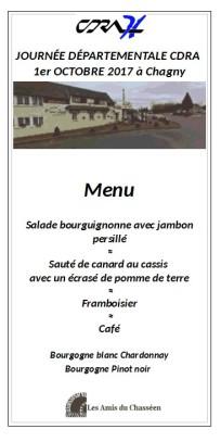 CDRA 2017 menu